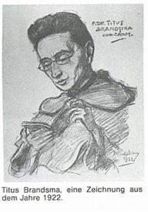 Titus Brandsma, eine Zeichnung aus dem Jahre 1922